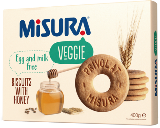 Misura Egg and Milk Free Biscuits with Honey, 400g