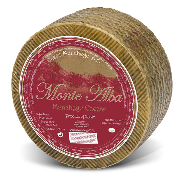 Monte Alba Manchego Aged 3-4 Months Approx. 7 lb