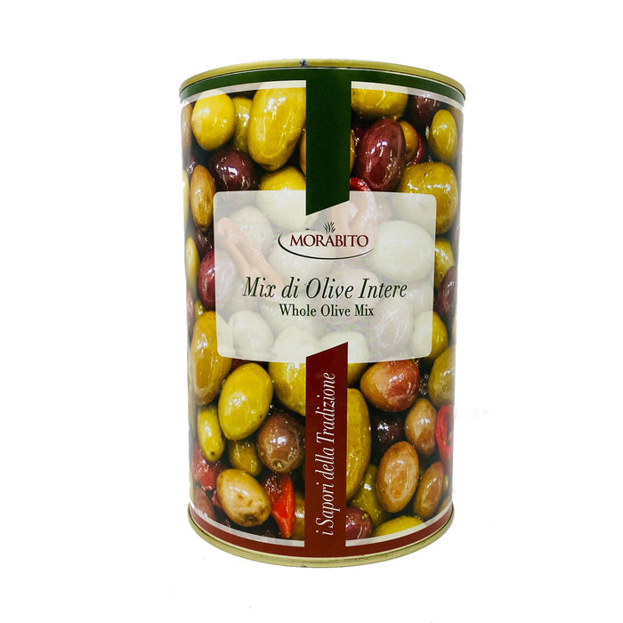 Morabito Whole Mix Olives, Mix di Olive Intere, 5 lb 8 oz | 2500g