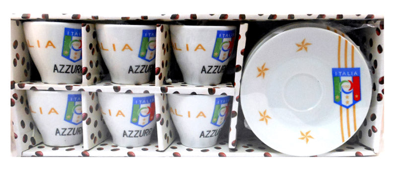 Italy National Team Espresso Cups and Saucers set of 6