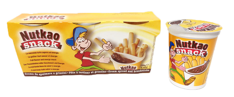 Nutkao Snack Chocolate Spread and Breadsticks 3x52g