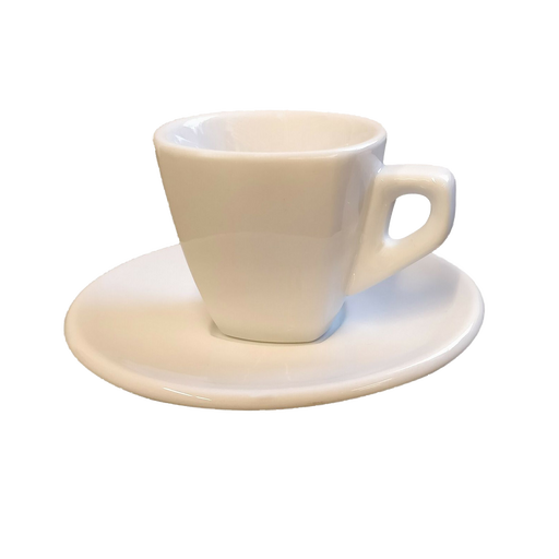 Nuova Point - Asti Cappuccino Cups and Saucers, White, Set of 6