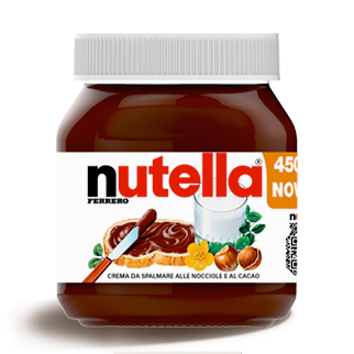 Ferrero Nutella Made in Italy, 450g Glass Jar