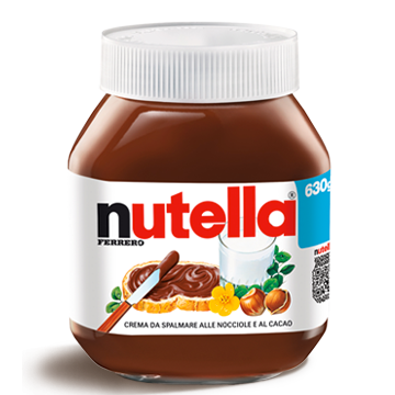 Ferrero Nutella Made in Italy, 630g Glass Jar