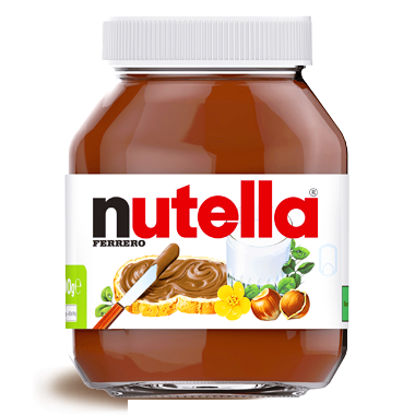 Ferrero Nutella, Made in Italy, 750g Glass Jar