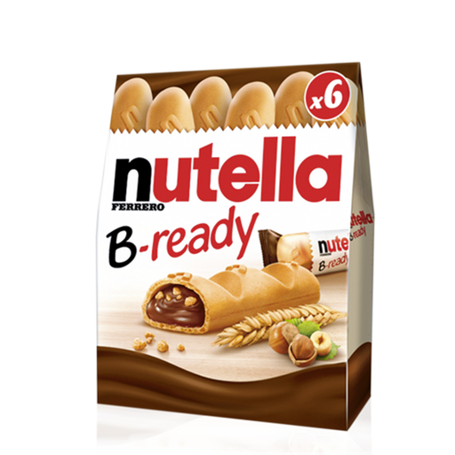 Nutella B-Ready,Nutella bready 6pk 132g