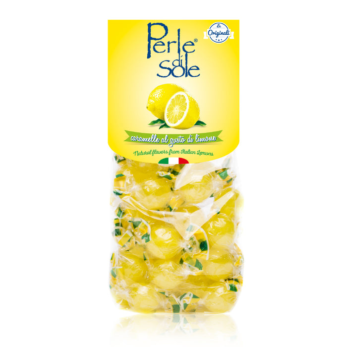 FREE SHIPPING | Perle di Sole Amalfi Lemon Drops Hard Candies, 3.52 oz. Bag