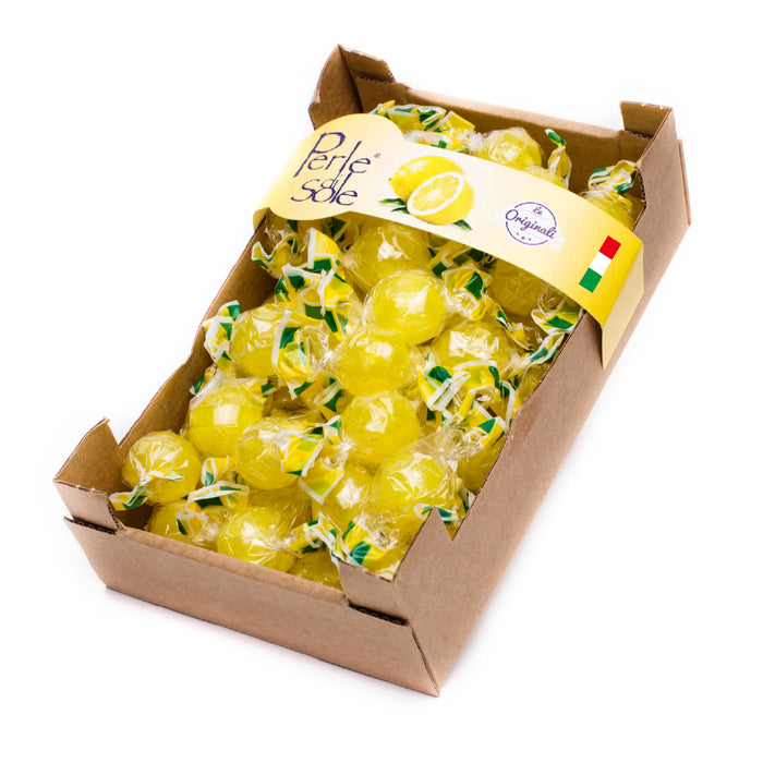 Perle di Sole Amalfi Lemon Drops Hard Candies, 12.35 oz Cardboard Box