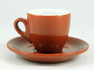 Nuova Point - Brown Palermo Espresso Cups and Saucers - Set of 6