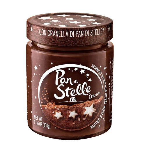 Pan Di Stelle Cream, Cocoa Hazelnut Spread, 100% Italian hazelnuts, Made in Italy, Chocolate spread, 11.6 oz.