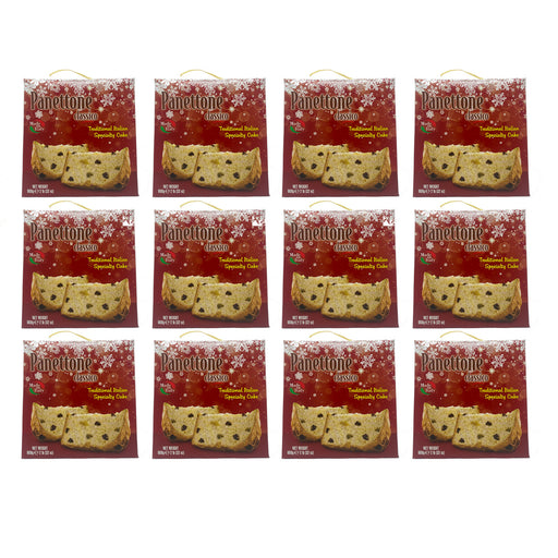 Panettone Classic FULL CASE of 12, Made in Italy, 2 lb, Pack of 12