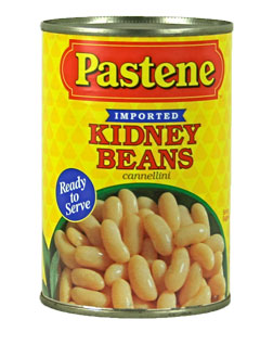 Pastene Italian Cannellini (White Kidney) Beans 14 oz. Can