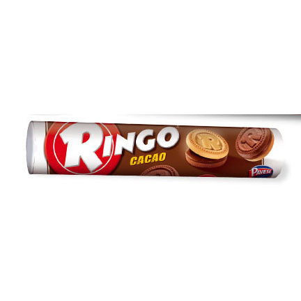 Pavesi Ringo Chocolate (Cacao) Cookies Tube, 5.82 oz | 165g