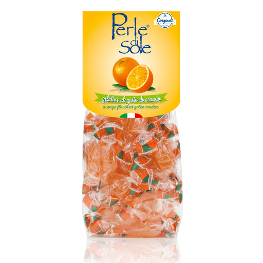 Perle di Sole Orange Flavored Gelèe Candies, 7.05oz. Bag - 200g