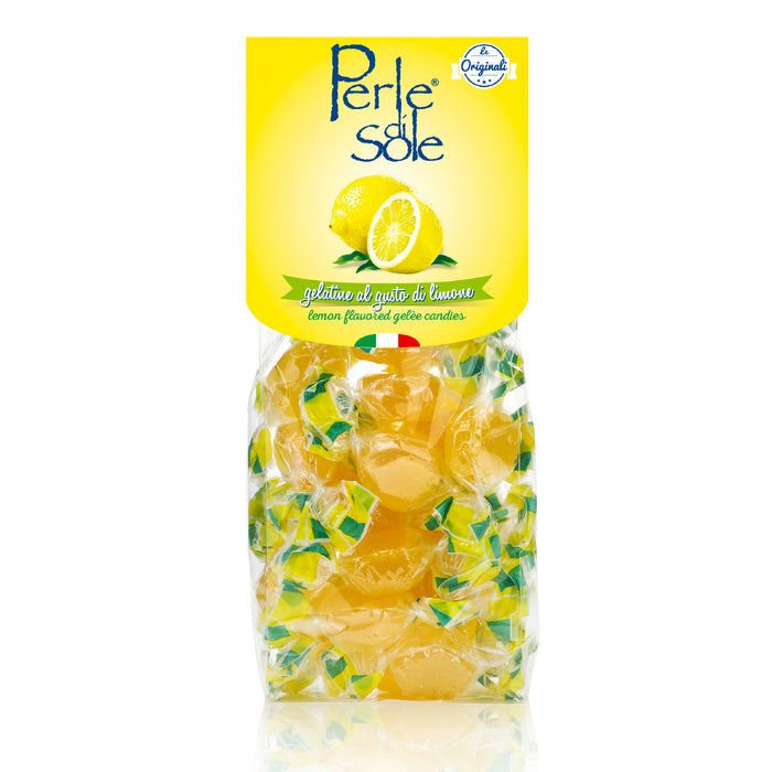 Perle di Sole Lemon Flavored Gelèe Candies, 7.05 oz. Bag - 200g