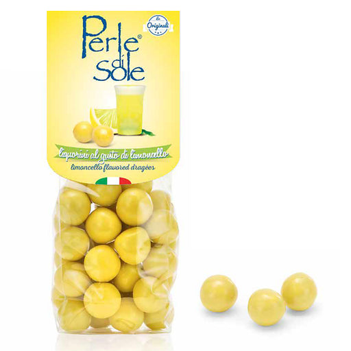 Perle di Sole Limoncello Dragees, 5.3 oz. - 150 g Bag
