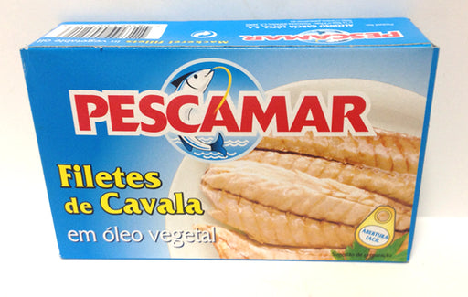 Pescamar Mackerel fillets in Vegetable Oil  4 1/4 oz. Tin