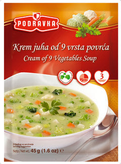 Podravka Cream of 9 Vegetables Soup, 45g