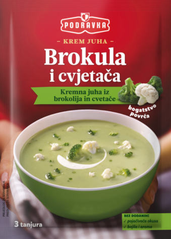 Podravka Cream of broccoli and cauliflower soup, 2.3 oz (66g)