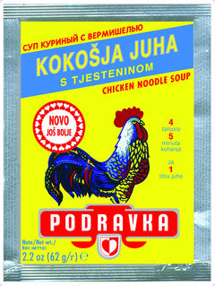 Podravka Chicken Flavored Noodle Soup, 62g