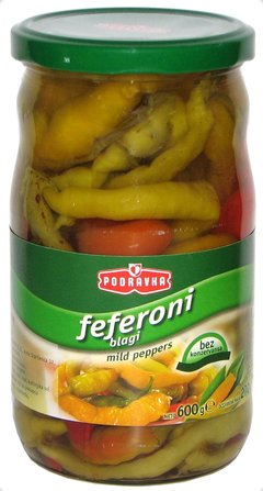 Podravka Hot Peppers, 630g