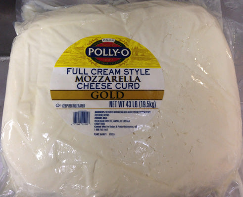 Polly-O Mozzarella Cheese Curd, 1 Lb