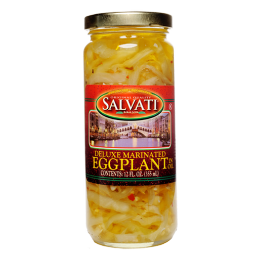 Salvati Deluxe Marinated Strips of Eggplant in oil, 12 FL OZ