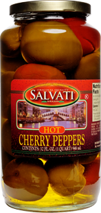 Salvati Hot Cherry Peppers, 32 fl oz
