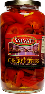 Salvati Hot Sliced Cherry Pepper, 32 fl oz