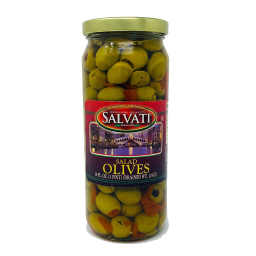 Salvati Salad Olives, 16 FL. OZ. Jar