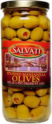 Salvati Stuffed Manzanilla Olives 16 FL. OZ. Jar