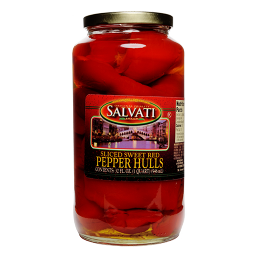 Salvati Sliced Sweet Peppers Red Pepper Hulls, 32 fl oz