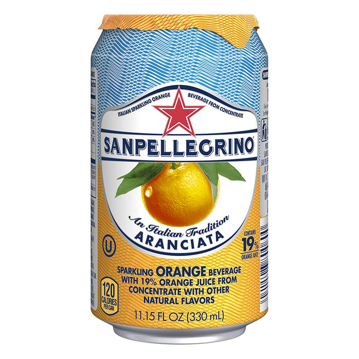 Sanpellegrino Orange Sparkling Fruit Beverage, 11.15 fl oz. Can