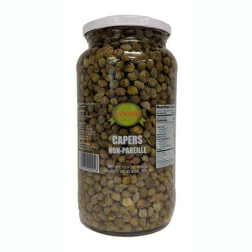 Sanniti Capers Non-Pareille in Vinegar, 23.5 oz Jar