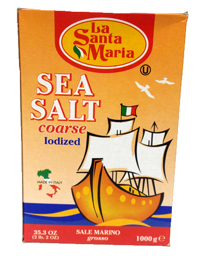 La Santa Maria Sea Salt Coarse Iodized, 35.3 OZ