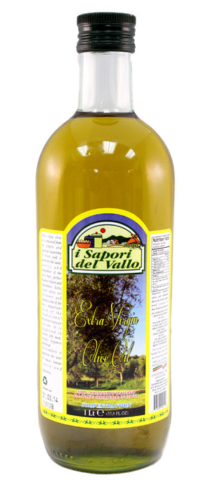 Sapori del vallo Extra Virgin Olive Oil 1 LT Bottle