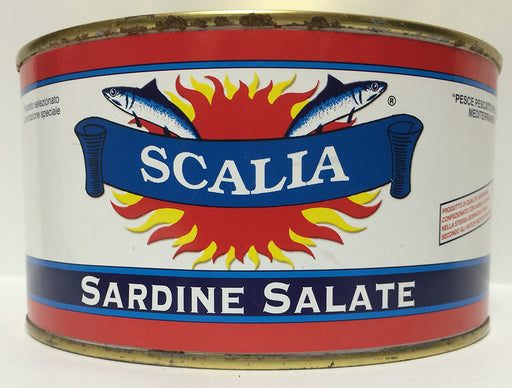 Scalia Sardine Salate, 1.7kg can