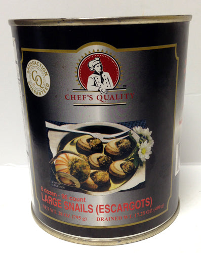 Chef's Quality Large Snails (escargot) 8 dozen - 96 count, 28 oz