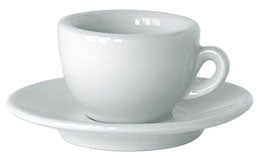 Nuova Point Sorrento Espresso Cups and Saucer in White, Set of 6