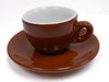 Sorrento Espresso Cups Brown and Saucers Set of 6