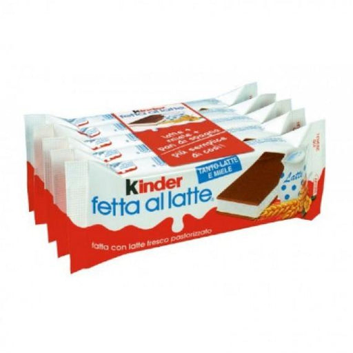 Kinder Fetta al Latte, Pack of 5 x 28g Pieces