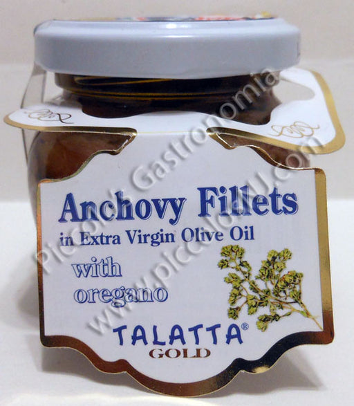 Talatta Anchovies in Olive Oil with Oregano 106g Jar