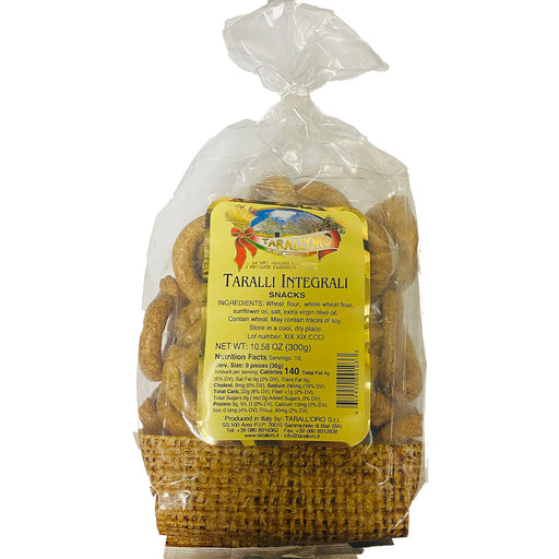 Tarall'oro Taralli Whole Wheat, Integrali, 10.58 oz | 300g