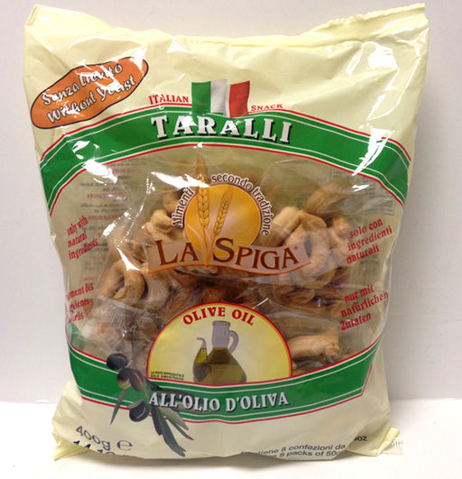 La Spiga Taralli Olive Oil, 8 Mini Packs of 50g