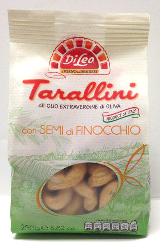 Di Leo Tarallini with Fennel Seeds, 250g