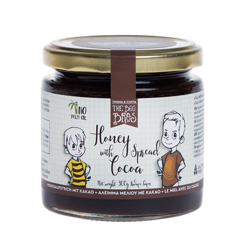 The Bee Bros Honey Spread With Cocoa, 10.58 oz | 300g