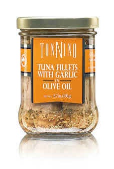Tonnino Tuna FIllets with Garlic in Olive Oil 6.7 oz