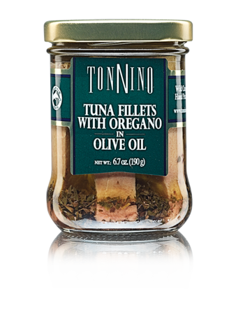 Tonnino Tuna Fillets in Olive Oil with Oregano 6.7 oz.