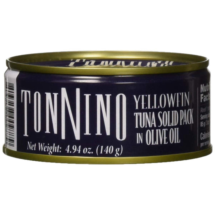 Tonnino Solid Pack Tuna in Olive Oil Can, 4.94 oz.