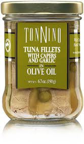 Tonnino Tuna Fillets with Capers and Garlic in Olive Oil - 6.7oz